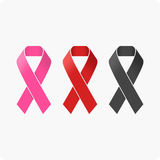 Set of ribbons. Vector illustration of a ribbon. AIDS vector icon Royalty Free Stock Photos