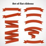 Set of ribbons for your design. Vector illustration Stock Photo
