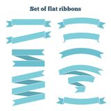 Set of ribbons for your design. Vector illustration Royalty Free Stock Image