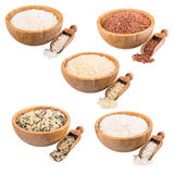Set of rice Royalty Free Stock Images