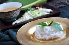 Set of Rice Noodle Dish Stock Photo