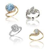 Set of rings Stock Photos