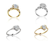 Set of rings. Best wedding engagement ring Stock Images