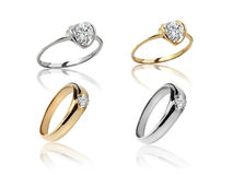 Set of rings. Best wedding engagement ring Royalty Free Stock Images