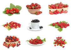 Set of ripe berries Stock Photos
