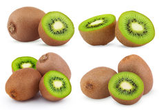 Set of ripe kiwi fruits Stock Image