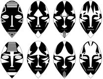 Set of Ritual masks from south america Stock Image