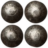 Set of rivet heads isolated on white Royalty Free Stock Photography
