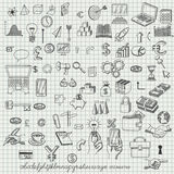 Set ręki rysować ikony Zdjęcie Stock