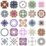 Set różni barwioni wzory na abstrakcjonistycznym fractal Zdjęcie Royalty Free