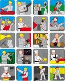 Set różni ludzie Zdjęcie Stock