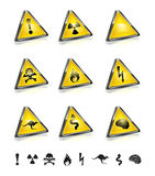Set of road signs. Isolated on white Royalty Free Stock Images