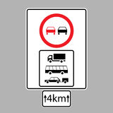 Set of road signs Stock Images