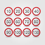 Set of road signs Royalty Free Stock Image