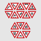 Set of road signs Royalty Free Stock Photos