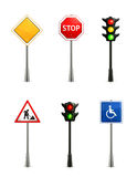 Set of road signs Stock Photo