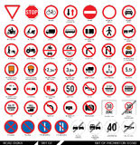 Set of road signs. Stock Images