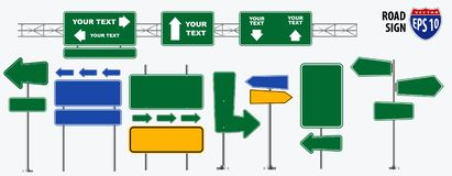 Set of road signs isolated. For brochure, flyer, cover book and other printing design. easy to modify vector illustration
