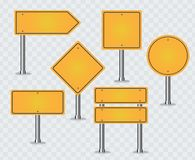 Set of road signs royalty free illustration