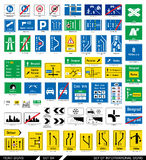 Set of road signs. Signboards. Royalty Free Stock Image