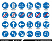 Set of road signs. Signboards. Royalty Free Stock Images