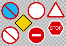 Set of road signs. Vector illustration stock illustration