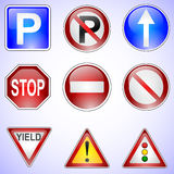 Set of Road Signs Stock Image