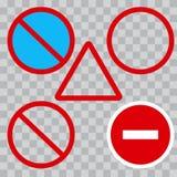 Set of road signs. Vector illustration royalty free illustration