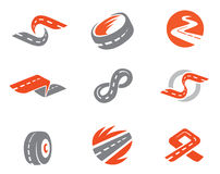 Set of road symbols Royalty Free Stock Image