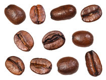 Set of roasted coffee beans Royalty Free Stock Photo