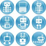 Set of robot icons Royalty Free Stock Photos
