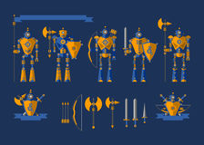 Set the Robot knights Stock Images