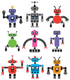 Set of robots Royalty Free Stock Photo