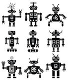 vector set of robots Royalty Free Stock Photography