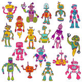 Set of Robots - Hand Drawn Doodles Stock Photo