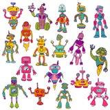 Set of Robots - Hand Drawn Doodles Stock Photo