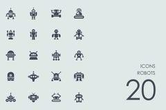 Set of robots icons Royalty Free Stock Photos