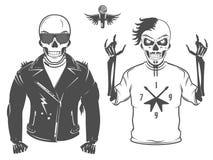Set rock and roll gwiazda dla t tatuażu i koszula projekta Zdjęcia Royalty Free