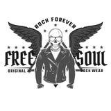 Set rock and roll gwiazda dla t tatuażu i koszula projekta Obrazy Royalty Free