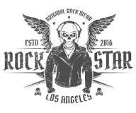 Set rock and roll gwiazda dla t tatuażu i koszula projekta Fotografia Stock