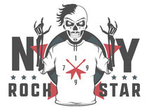 Set rock and roll gwiazda dla t tatuażu i koszula projekta Zdjęcie Stock