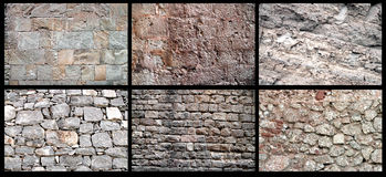 Set of rock wall Royalty Free Stock Image