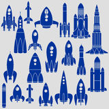 Set of Rockets Stock Photo