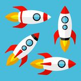 Set of rockets. Vector illustration vector illustration