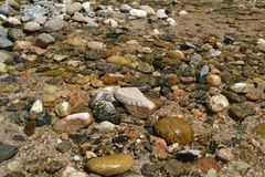 River of crystal clear water royalty free stock photography