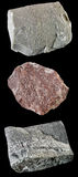 Set of rocks and minerals �10 Royalty Free Stock Photos