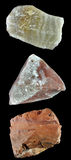 Set of rocks and minerals �4 Royalty Free Stock Images