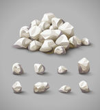 Set of rocks and stone pile vector Royalty Free Stock Images