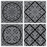 Set roczników bezszwowi wzory Obrazy Royalty Free