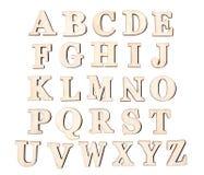 Set roczników drewniani listy, odosobniony na białym tle Zdjęcia Royalty Free